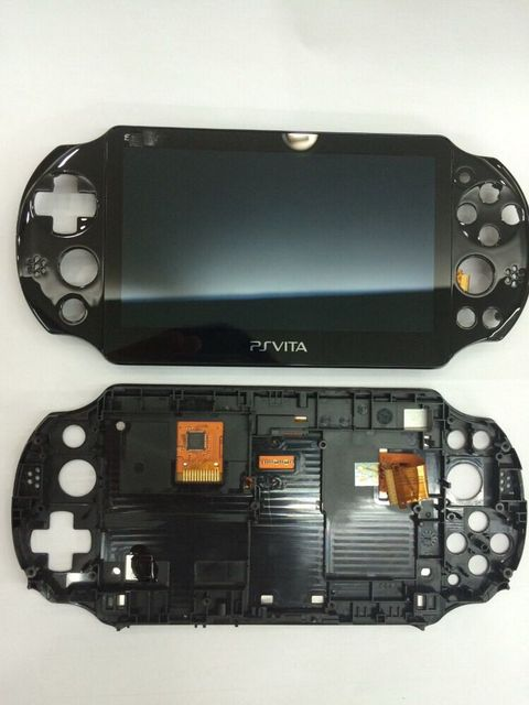 Original new for psvita for ps vita psv 2000 lcd screen display assembly with frame stand free screen protector