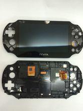 מקורי חדש עבור psvita עבור ps vita psv 2000 lcd מסך תצוגת עצרת עם מסגרת stand משלוח מסך מגן