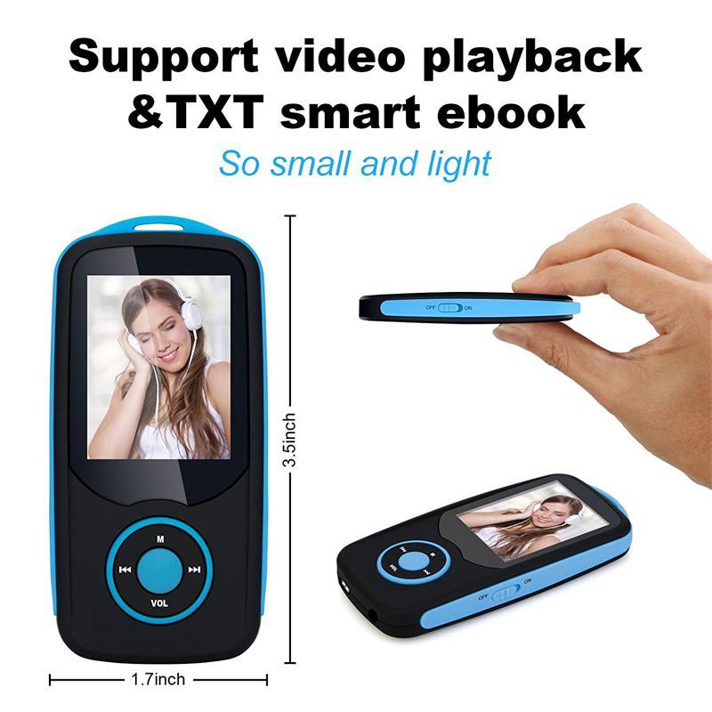 Bluetooth4.0 1.8 düymlük Rəng Menyu Ekranı olan MP3 Pleyer, FM - Portativ audio və video - Fotoqrafiya 5