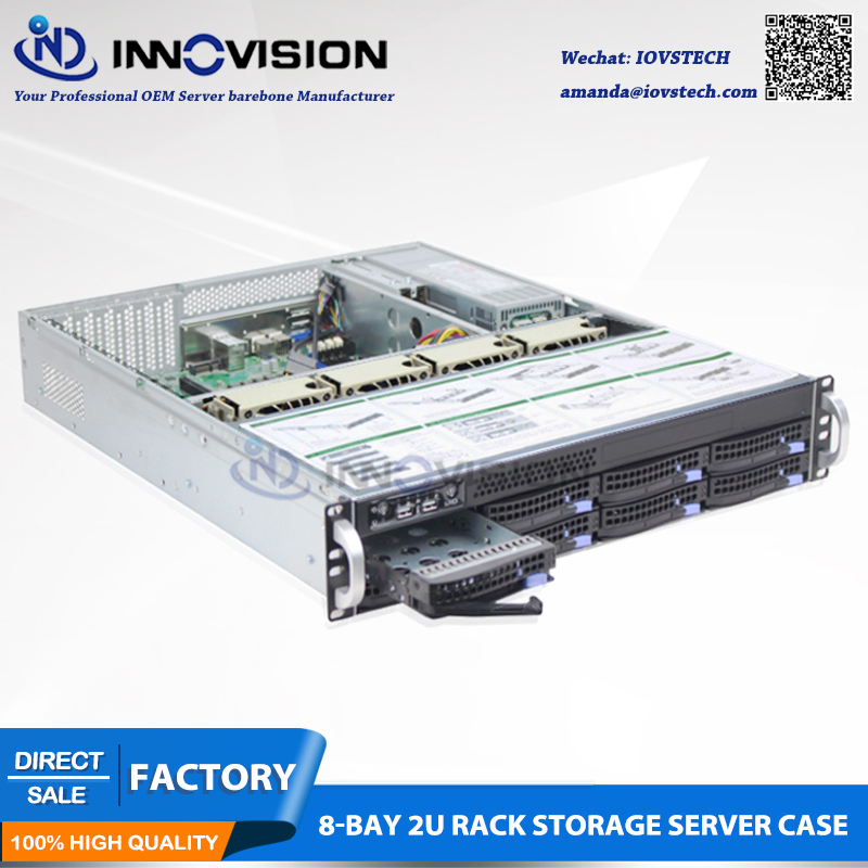 Rack 2U 8bays Hot-swap Server Chassis S26508 With Mini Sas Hotswap Backplane,supporting 12*13 Board L=650mm