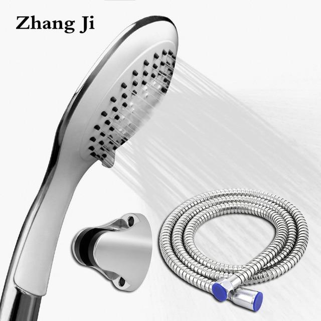 Zhangji White Handheld Shower Head Set Ultrathin Design Abs Plastic