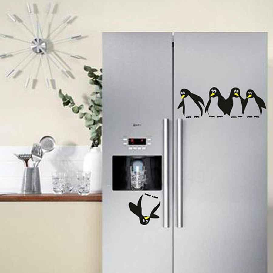 Novo design engraçado cozinha geladeira adesivo, geladeira decalques sala de jantar cozinha adesivos de parede decorativos