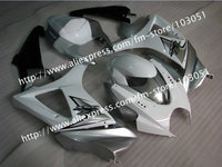 7 gifts body work for 2007 SUZUKI GSXR 1000 fairings K7 2008 gsxr 1000 fairing 07 08 glossy white with silver Dr13