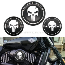 Motorcycle Skull Derby Timer Cover Timing Engine Side Air Cleaner For Harley Street XG500 XG750 2015 2016 2017 2018