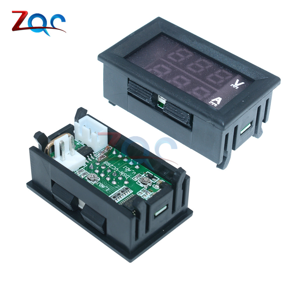 HTB1KrVgcPgy uJjSZTEq6AYkFXav 0.56 inch Mini Digital Voltmeter Ammeter DC 100V 10A Panel Amp Volt Voltage Current Meter Tester Blue Red Dual LED Display