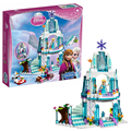 Bela 10435 Friends Princess Elsa's Sparkling Ice Castle Block Brick Toy Set Girl Game Compatible with Decool Lepin Sluba LEGOlid