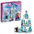 Bela Amigos 10435 Princesa Elsa Chispeante del Castillo de Hielo Ladrillo Bloque Conjunto de Juguete Niña Juego Compatible con Decool Lepin Sluba LEGOlid