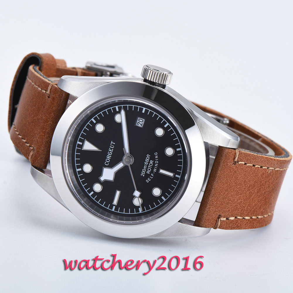 41 ミリメートル Corgeut 発光手展開バケット SS 完全なカレンダー御代田自動移動メンズ腕時計  グループ上の 腕時計 からの 機械式時計 の中 1