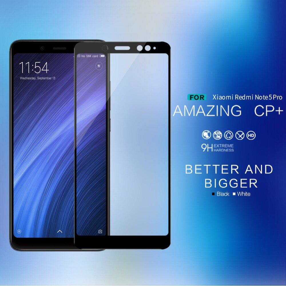 Redmi Note 5 Tempered Glass Nillkin CP+ 2.5D Full Cover Screen Protector For Xiaomi Redmi Note 5 Global Version