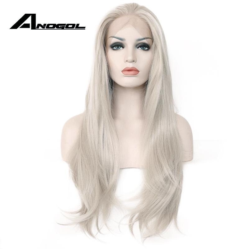 anogol длинные списки ручной работы serra серый высокого температура термостат Walk химические синтетические волосы на КРУ парк для белых для женщин