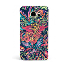 Funny Trippy Elephant 2016!Fashion UV Black Bag Case For Samsung Note 5