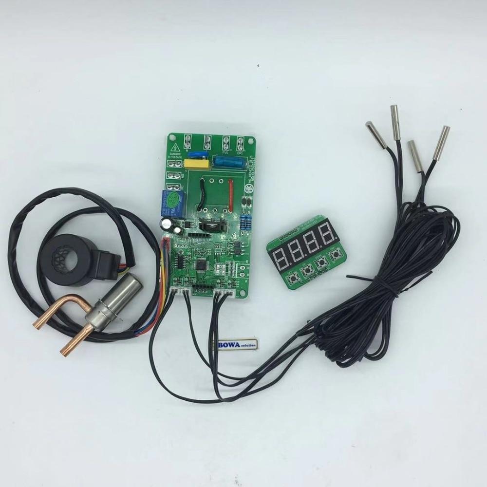 restoran su ısıtıcı - 0.23m3/h EEV with 12Vdc controller & 4pcs NTC sensors matches 70~170cc swash plate or wobble plate ors slipper Pad compressors