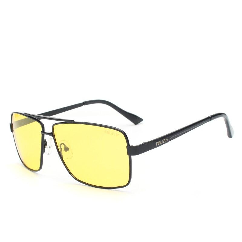 fd5f715f758 OLEY Mens Polarized Night Driving Sunglasses Men Brand Design Yellow Lens  Night Vision Glasses Square Goggles ...