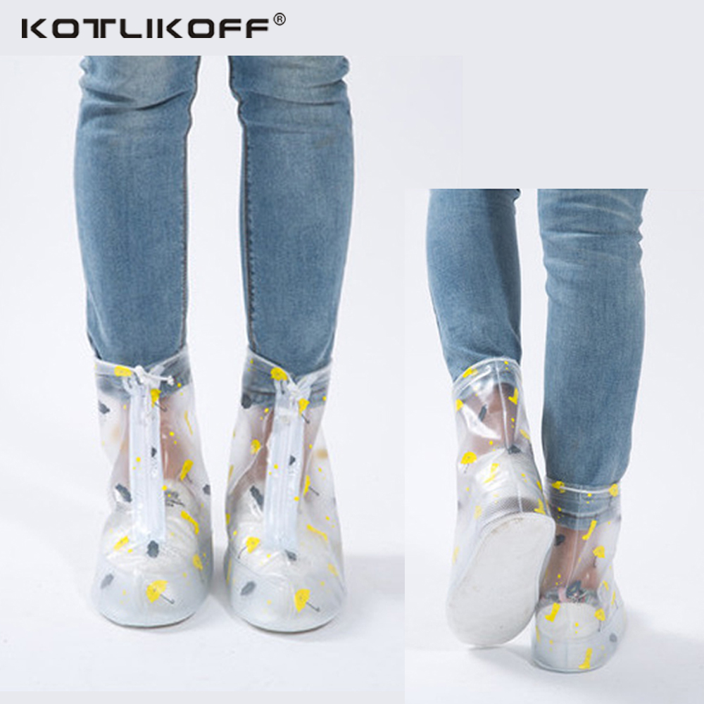 KOTLIKOFF cubierta del zapato impermeable para hombres mujeres zapatos Protector reutilizable Durable impermeable cubre Botas de lluvia chanclos
