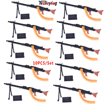 10PCS/Set  MG42 General Purpose Machine Gun 1/6 Scale Military Model Toy Set  Soldier accessories Weapon F 12 Action Figures данил джа приключения инди маленькой принцессы часть 1 ёлый