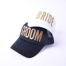 GROOM Snapback Hats for Women Bride Trucker Hat Neon Team Bride Mesh  Trucker Hat Cap Bachelorette 074708b87965