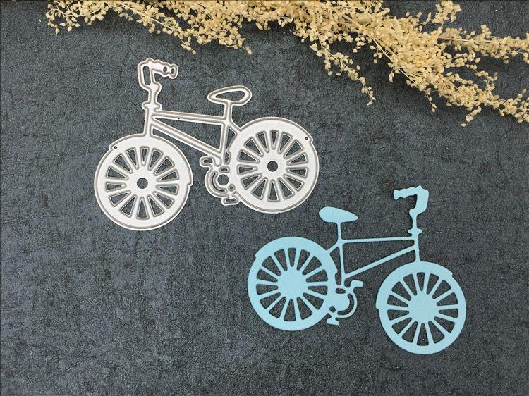 Bicicleta Metal Troqueles De Corte Decorativo Scrapbooking Acero Artesanía Troquelado En Relieve Tarjetas De Papel Plantillas