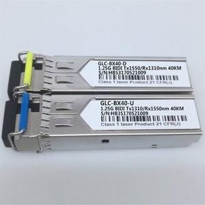 Image 2 - 1 paar SFP BIDI Optische Transceiver Modul 1000BASE BX Optische Modul SM Für GLC BX40 D/U 40km LC DDM Optischen transceiver Modul
