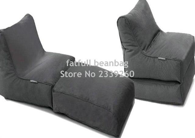 COBRIR APENAS, sem enchimento-preto dobrável cadeira do sofá, saco de feijão ao ar livre jogo da mobília, beanbag assento à prova d' água