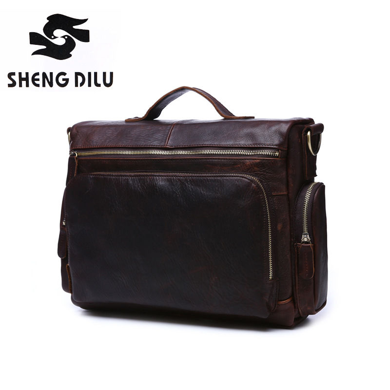 2017 NEW Genuine Leather Men Bags Fashion Man Crossbody Shoulder Handbag Men Messenger Bags Male Briefcase Men's Travel Bag 1623 ms crazy horse genuine leather men bag men s leather bag men messenger bags shoulder crossbody bags man handbag briefcase tw2011