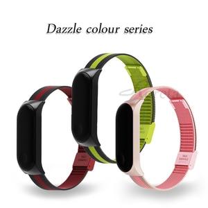 Image 3 - Roreta Mi Band 3 4 Wrist Strap Metal Stainless Steel Wrist Strap For Xiaomi Mi Band 4 3 Bracelet Miband 4 3 Wristbands Strap