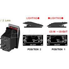 Rocker Toggle Switch DC 12V/24V Rear ROOF LED LIGHT BAR Car Boat ON/OFF Blue LED ABS APR22_17
