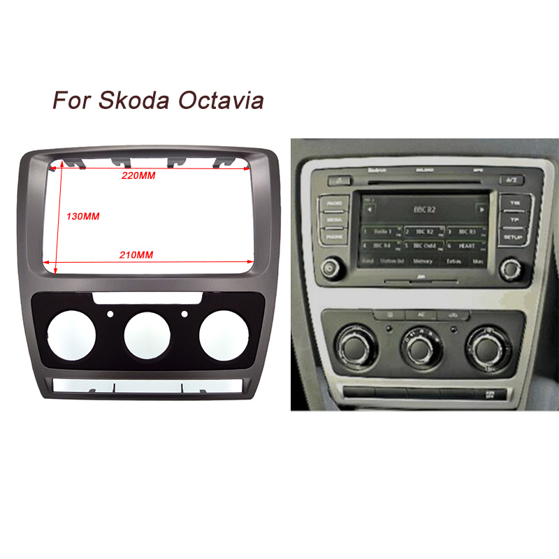 ITYAGUY High Quality Car Refitting DVD Panel Dash Kit Audio Frame Radio Fascia For Skoda Octavia(2010~2013) Auto/Manual A/C