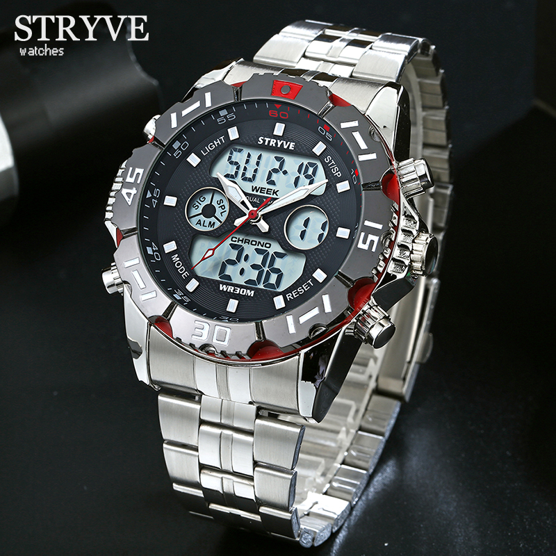 Relojes Hombre 2019 STRYVE Mens Watches Top Brand Luxury Wrist Watch Men Sports Quartz Man Wristwatches Clock Relogio Masculino