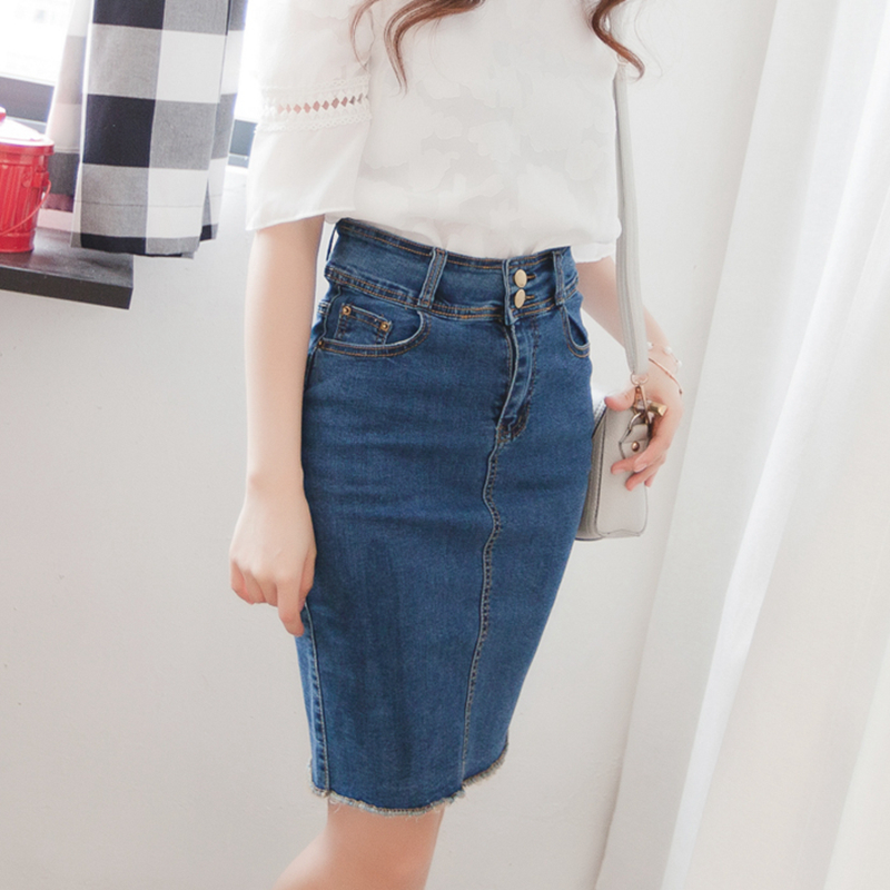 Aliexpress.com : Buy Women's Denim Pencil Skirt Summer Autumn Long ...
