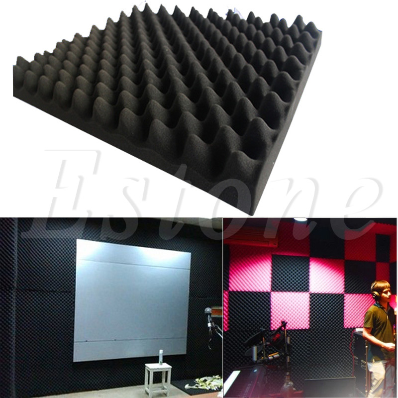 Купить с кэшбэком 50x50x3cm Acoustic Soundproof Sound Stop Absorption Pyramid Studio Foam Sponge