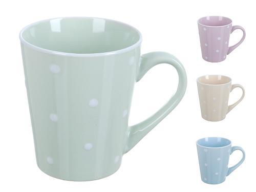 Mug ENS, Fun polka dot, 390 ml, mint dot