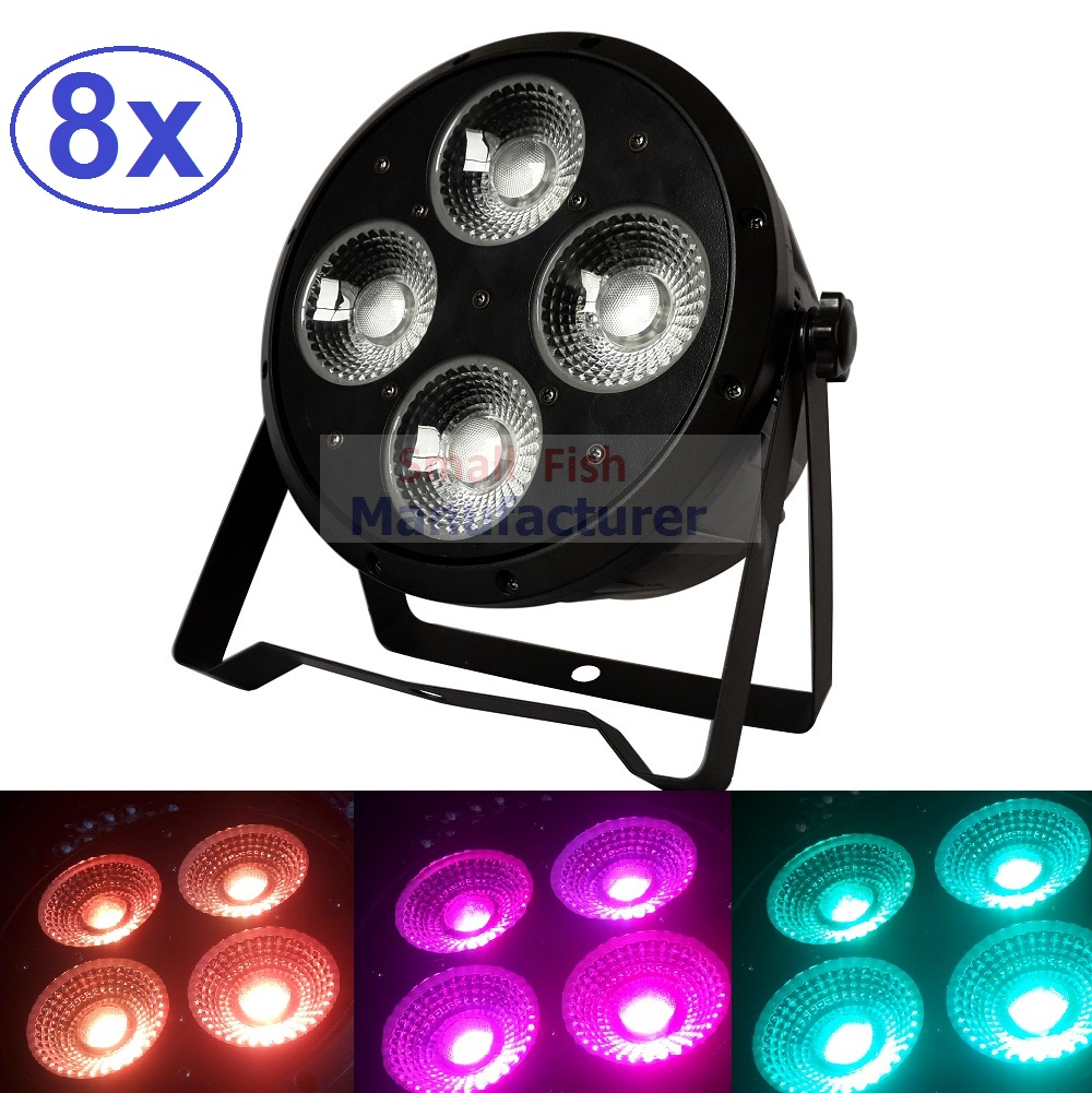 8xLot DJ Necessity Disco DMX Lamp LED Par Light 4x20W 3in1 RGB Tricolor Home Party Lights Equipment Stage Effect Beam Lighting niugul dmx stage light mini 10w led spot moving head light led patterns lamp dj disco lighting 10w led gobo lights chandelier