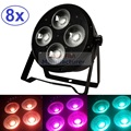 8xLot DJ Necessity Disco DMX Lamp LED Par Light 4x20W 3in1 RGB Tricolor Home Party Lights Equipment Stage Effect Beam Lighting