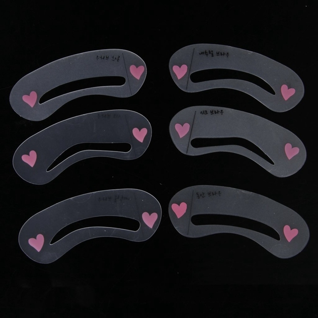 6Pcs Eyebrow Stencil Grooming/Shaping Template Makeup Tool 4