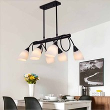 Modern Living Room Pendant Lamp Glass Lampshade LED Pendant Lights Fixtures Dining Room Bar Hanging Lamp For Hotel Villa light free shipping ac90 260v avintage cord pendant lights clear glass lampshade edison bulb pendant lamp for dining room ktv bar