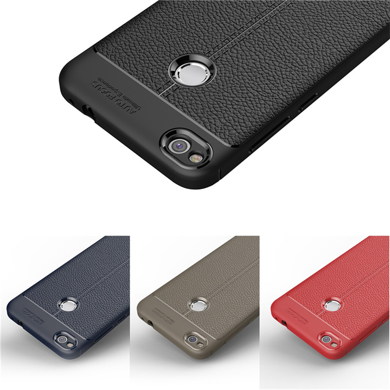 Shockproof Soft TPU Silicone Leather Case for Huawei P8 P9 P10 Mate 10 lite Pro Y3 Y5 Y6 2017 Honor 6X 7A 7X 8 9 Nova 2 2i Case