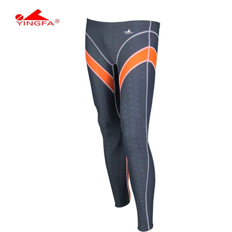 Yingfa water proof,chlorine resistant training mens long swim pants mens long swimming trunks ...
