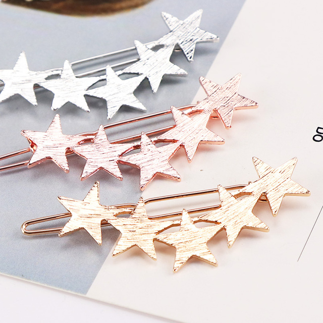 Alloy Stars Barrettes Hair Clips 3