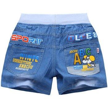 bbd9905d7 Nuevos pantalones cortos de mezclilla para niños de verano para niños  pantalones vaqueros cortos para niños pantalones cortos de dibujos animados  ropa para ...