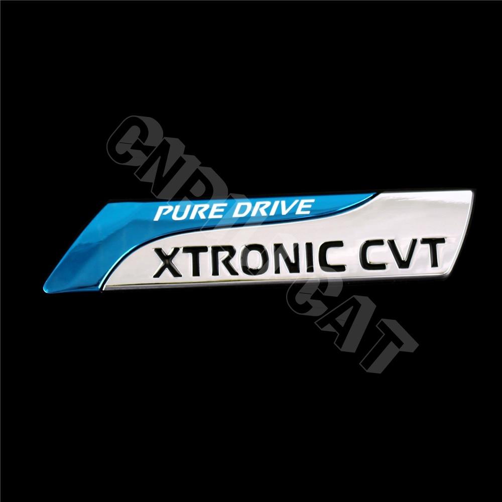 PURE DRIVE XTRONIC CVT Car Body Rear Emblem Badge Stickers for NISSAN Universal