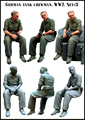 Scale Models 1/35  WWII german tank crewman soldier sitting   WWII Resin Model Free Shipping