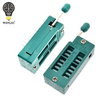 2 pcs ic teste universal zif soquete 14pin 14 pinos dip 2.54mm ic soquete passo