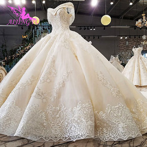 Image 4 - AIJINGYU Queen Wedding Dress Princess Ball Dresses Gowns Long Sleeve Muslim New Gown Bridal Shower
