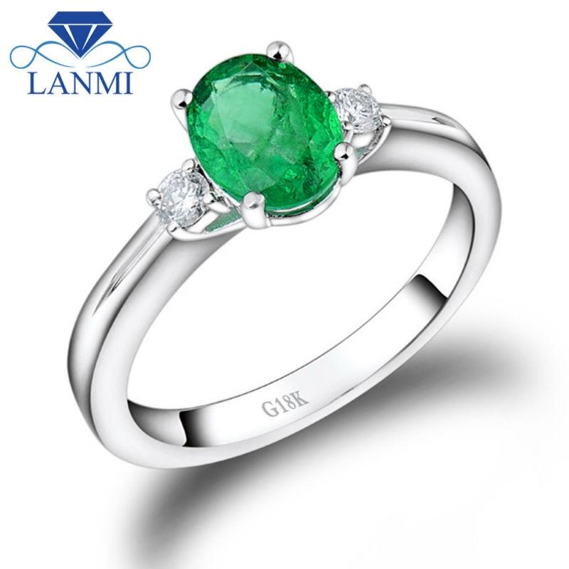 Sterling Silver 2 mm 3 émeraude et diamant cœur anneau fabricants Standard prix de détail $230