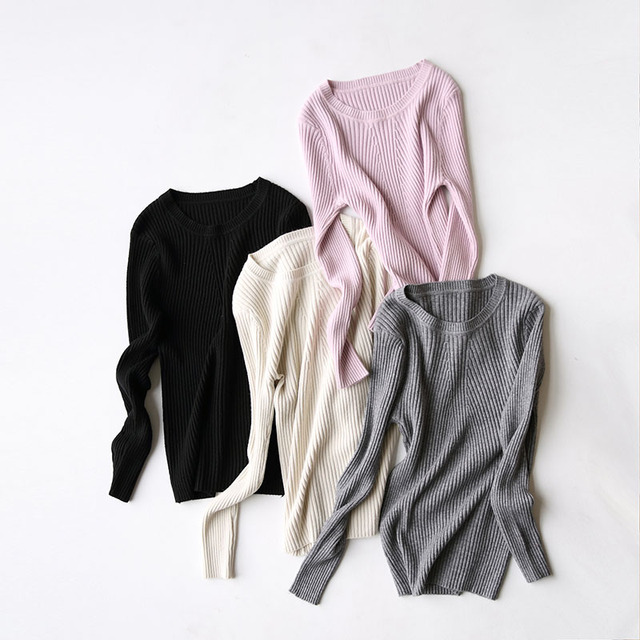 Yeeshan Cotton Wool Sweater Autumn Underwear O-neck Full Sleeves Women's Sweaters and Pullovers Elegant Solid Sueters Mujer