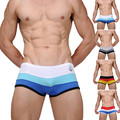 2017 Popular Men's Sexy Cotton Color Block Underwear Intimates Boat Anchor Comfortable Boxers Men's Shorts High Quality 4 Color