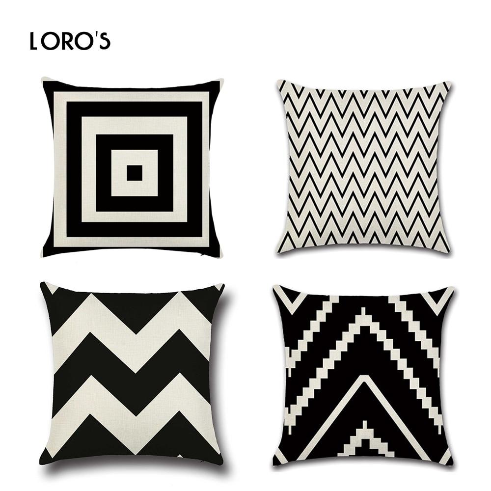 Geometrična prevleka za blazine platnene blazine pokriva kvadratni - Domači tekstil