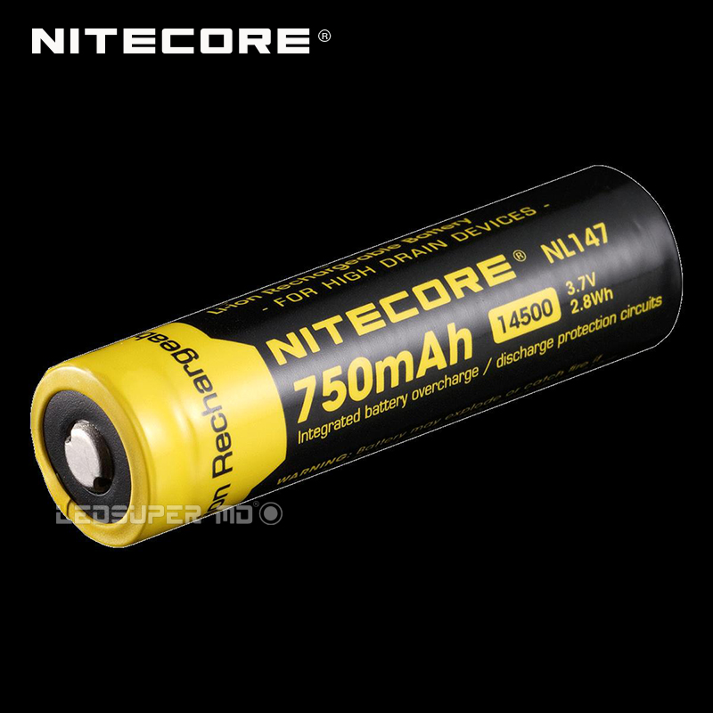 2PCS Original Nitecore NL147 Li-ion Cell Rechargeable 14500 Battery with 750mAh 3.7V 2.8Wh cameronsino shenkesk 500i sk 600i pump medical battery aec703466 rechargeable li ion cell