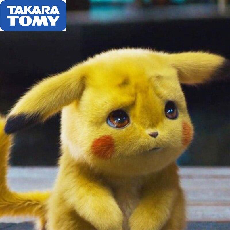 Takara Tomy Pokemon Pikachu Plush Toy Stuffed Toy Detective Pikachu Anime Plush Toys For Children