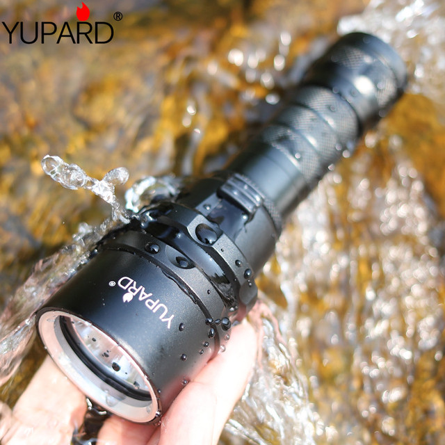 YUPARD Дайвинг дайвер водонепроницаемое нижнее белье XM-L2 светодиодный T6 светодиодный фонарик факел свет лампы для 1x18650 аккумуляторная батарея...